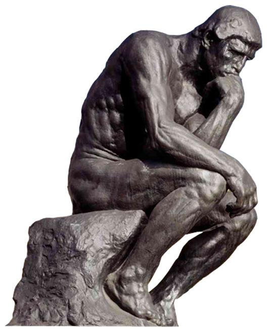 Thinking Man Statue Png | www.pixshark.com - Images ...